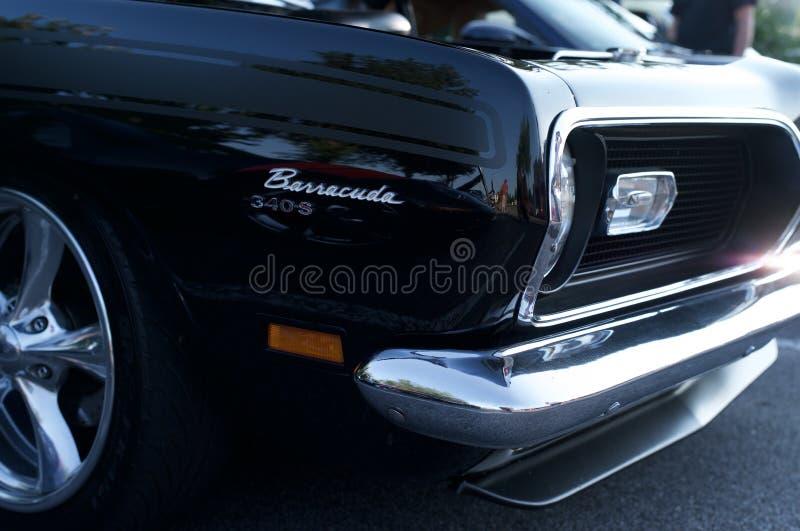 Plymouth Barracuda początkowy czerń zdjęcia stock