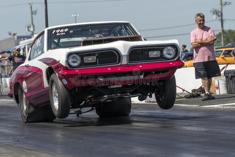 Plymouth barracuda wheelie fotografia royalty free