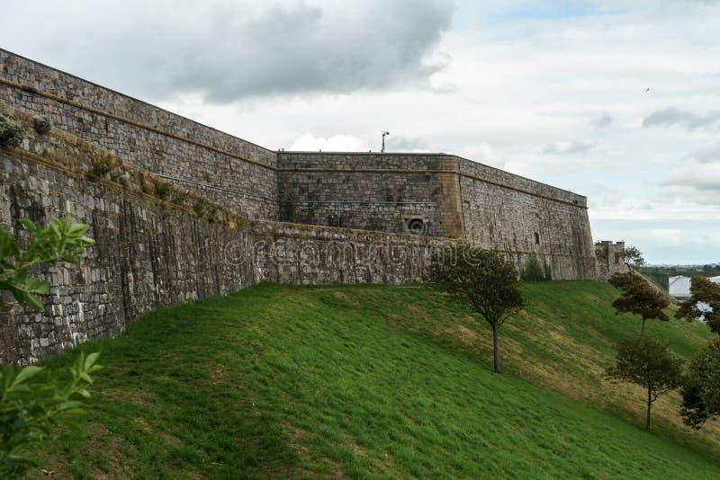 Plymouth citadell, fästning, Devon, Förenade kungariket, Augusti 20, 2018 royaltyfri bild