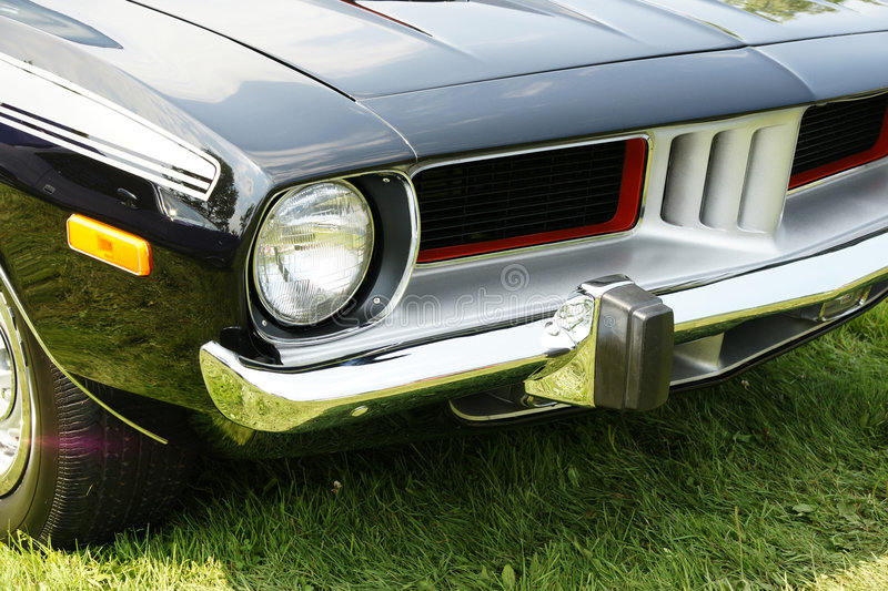 Download Plymouth Cuda Front End stock image. Image of closeup - 5969371