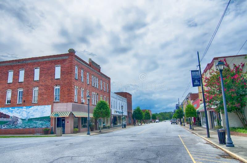 Plymouth-de straatscènes van stadsNoord-Carolina royalty-vrije stock foto