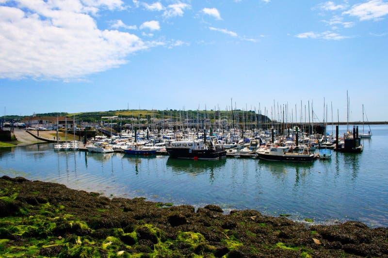 Plymouth hamn arkivfoto