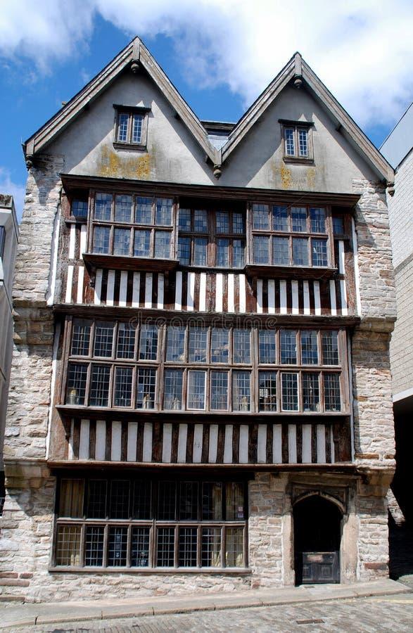 Plymouth, Inglaterra: Casa dos comerciantes fotos de stock royalty free