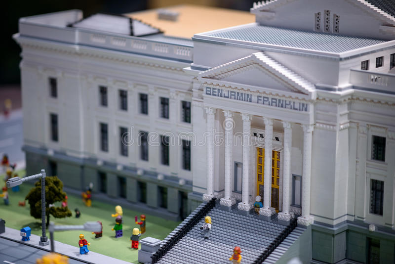 PLYMOUTH MEETING, PA - APRIL 6: Grand Opening of Legoland Discovery center Philadelphia, PA on April 6, 2017 royalty free stock photography