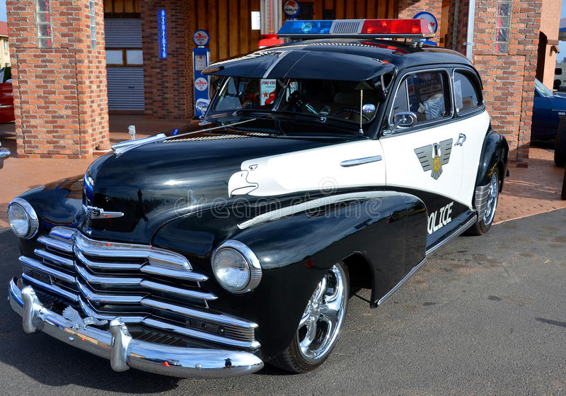 1947 Plymouth-politiewagen royalty-vrije stock afbeelding