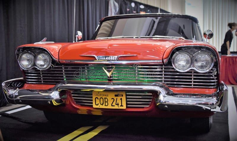 1956 1958 Plymouth raseri Christine royaltyfri bild