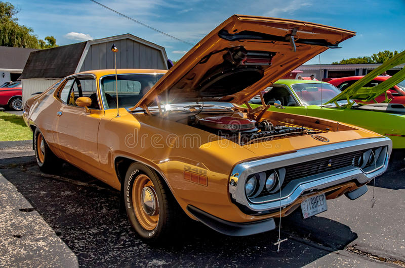 1971 Plymouth Roadrunner royalty free stock images