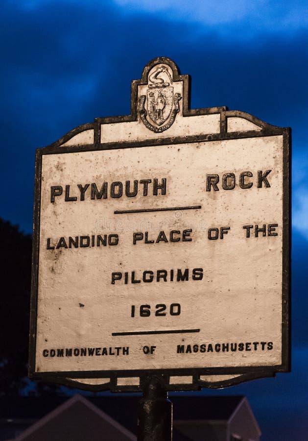 Plymouth Rock, mA, U.S.A. fotografia stock libera da diritti