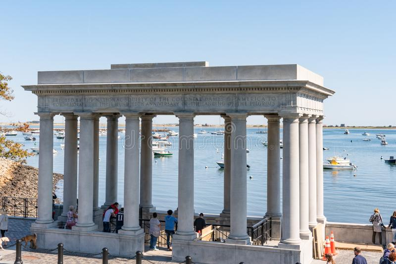 Plymouth Rock-Monument royalty-vrije stock afbeelding