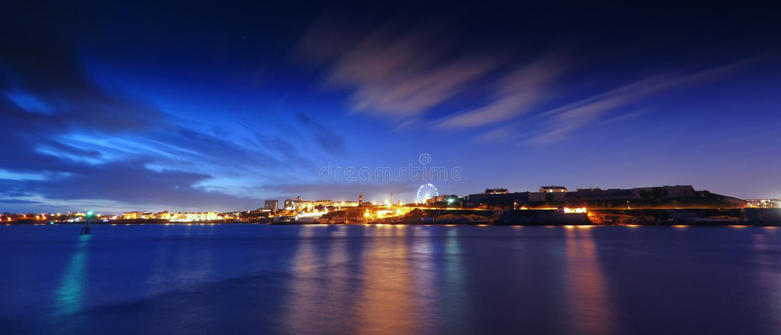 Plymouth Sound. The Hoe, Plymouth Sound, UK stock image