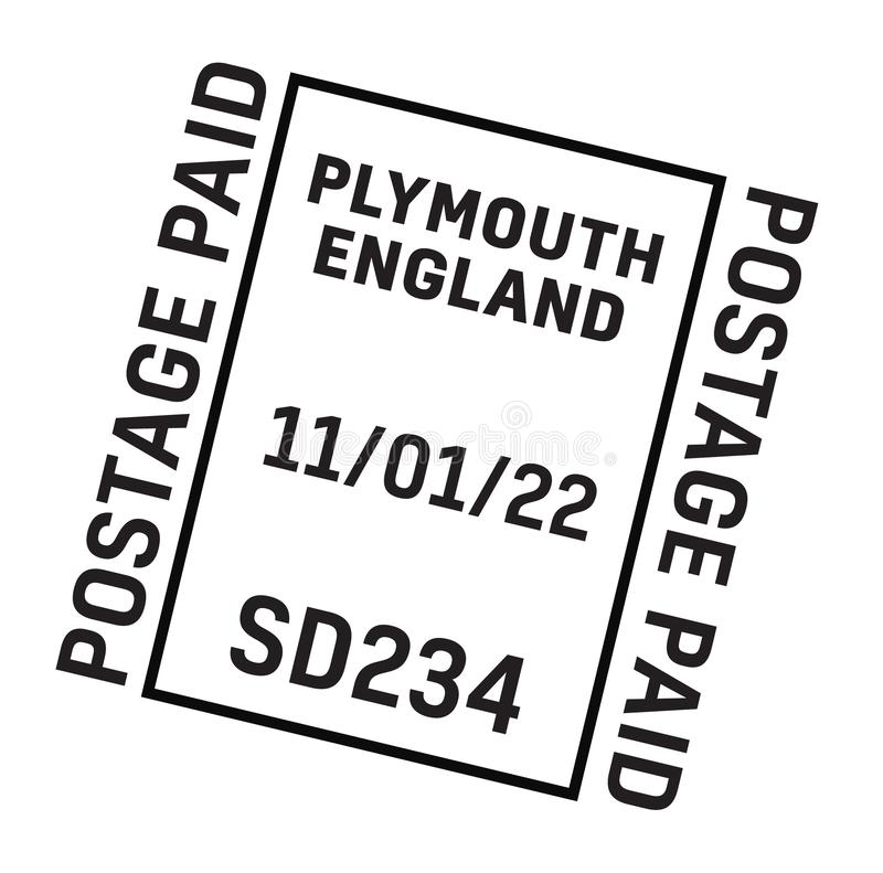PLYMOUTH stämpel för ENGLAND postleverans royaltyfri illustrationer