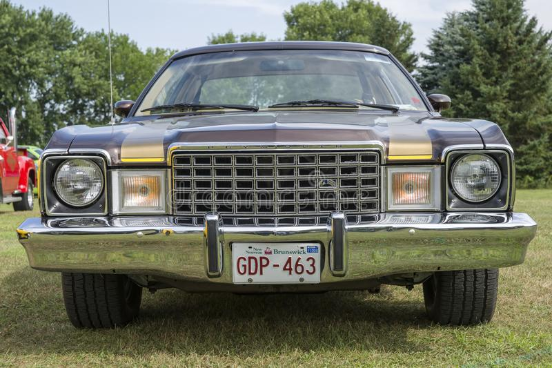 Plymouth volare front end. Picture of plymouth volare front end during convention chrysler at st liboire august 4-5 2018 stock photography