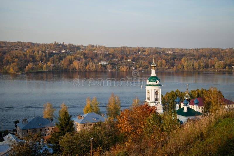 Plyos is een stad in Privolzhsky-District van Ivanovo Oblast, Russi royalty-vrije stock foto's
