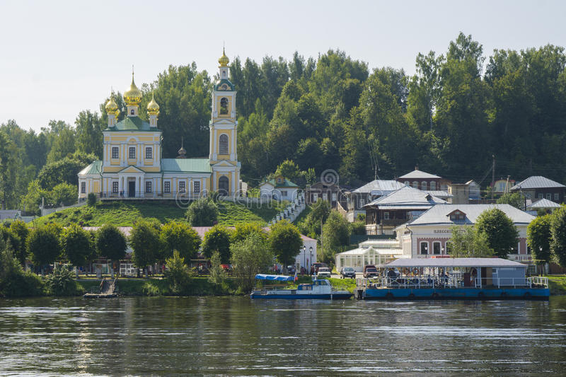 Plyos - small beautiful town in Russia royalty free stock images