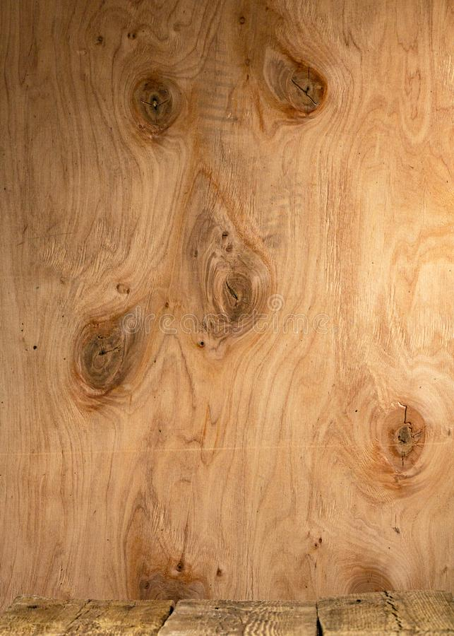 Plywood texture with pattern natural, wood grain. For background royalty free stock images