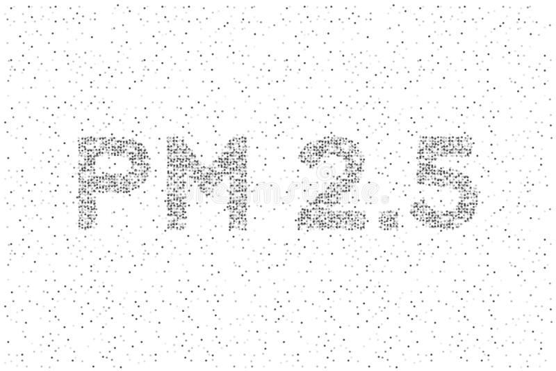 PM 2 картина пиксела точки круга 5 текстов абстрактная геометрическая, иллюстрация цвета черноты дизайна концепции загрязнения из иллюстрация штока