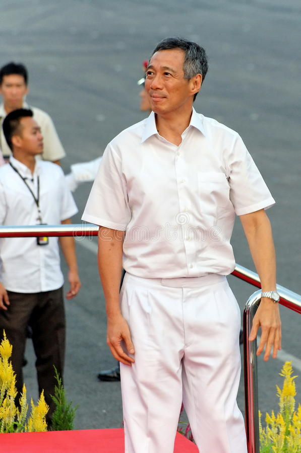 PM Lee Looking At Spectators During NDP 2009 Editorial Photography