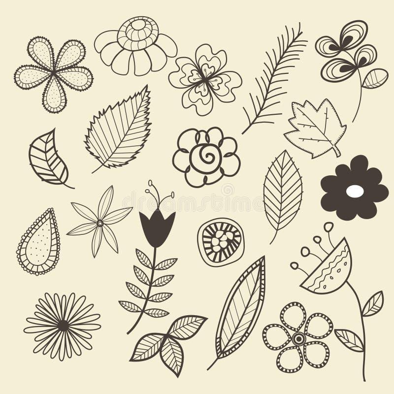 Download Pnature doodles stock vector. Image of fake, scrapbook - 13058994