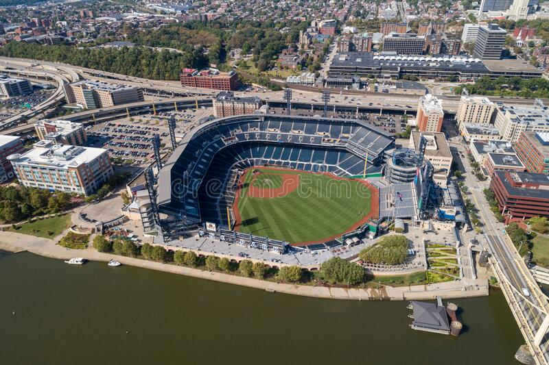 PNC Baseball Park op 25 september 2019 in Pittsburgh, Pennsylvania stock afbeelding