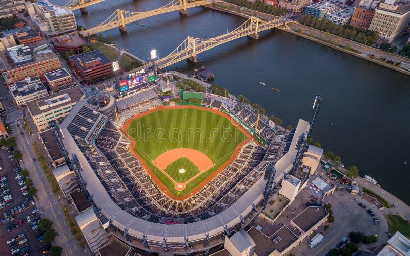 PNC Baseball Park op 25 september 2019 in Pittsburgh, Pennsylvania royalty-vrije stock afbeelding