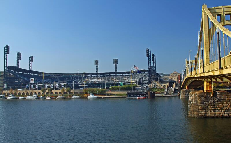PNC Baseball Park a Pittsburgh, PA immagine stock