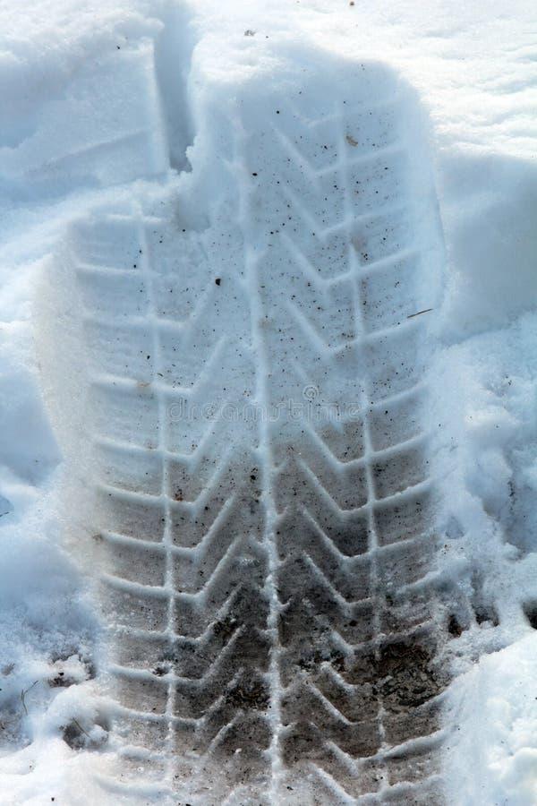 Pneu d'hiver photo libre de droits