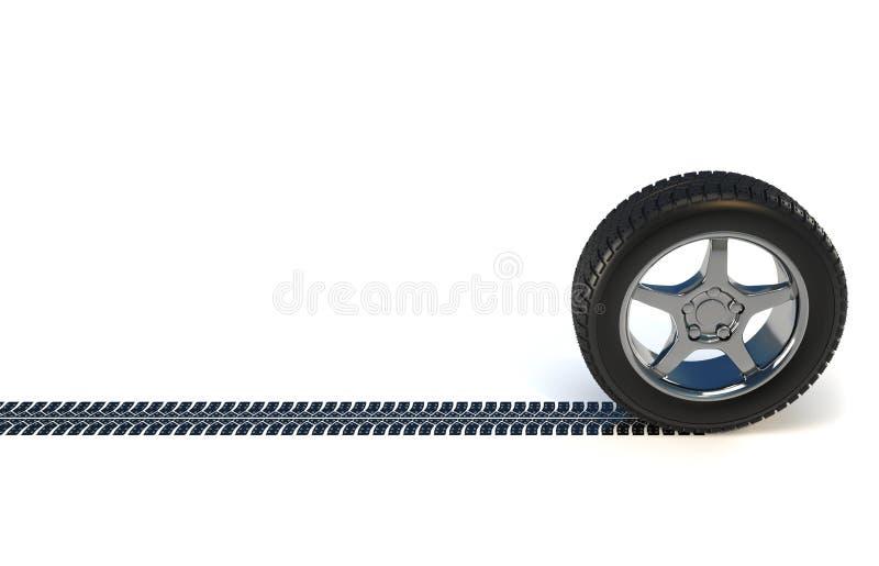 Pneu de roue de véhicule illustration libre de droits