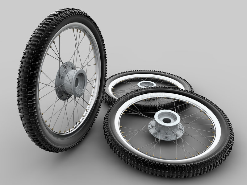 pneu en travers de moto illustration de vecteur