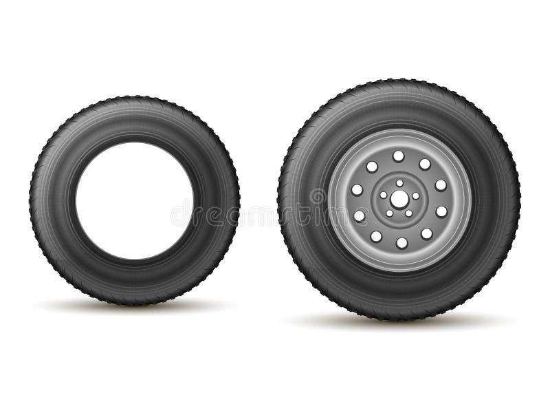 Pneu et roue illustration de vecteur