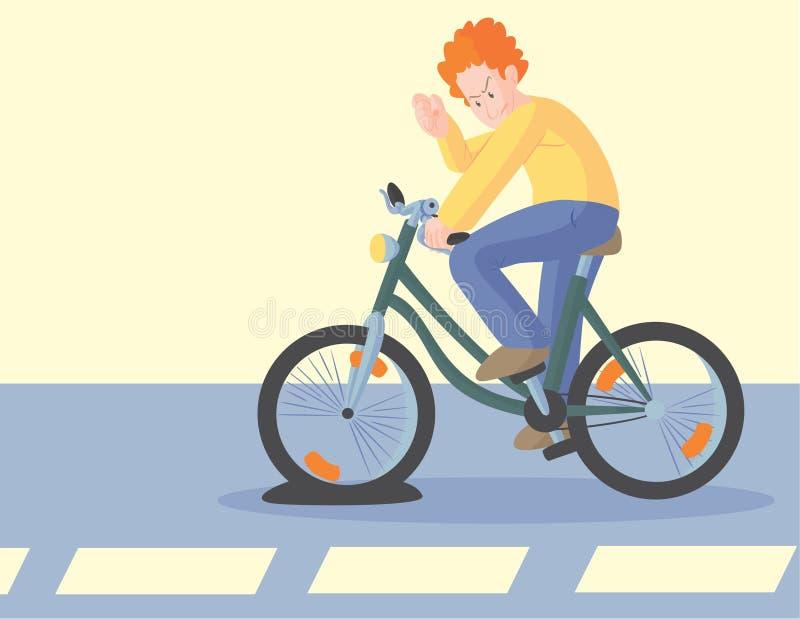 Pneu liso da bicicleta ilustração royalty free