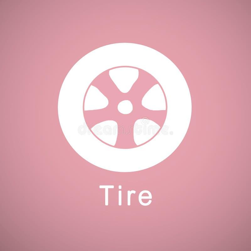 pneu ilustração stock