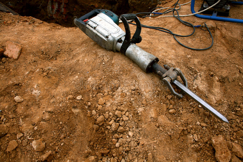 Download Pneumatic Hammer Lying On The Stock Image - Image: 4195947
