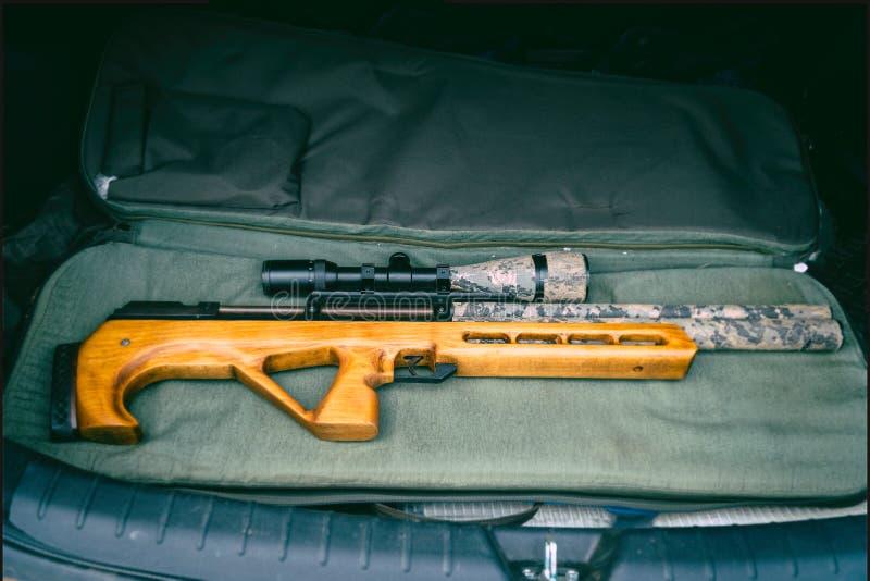 Pneumatic rifle with an optical sight royalty free stock photos