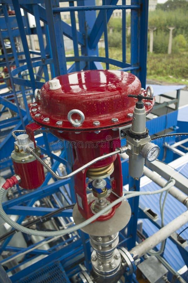 Pneumatic valve royalty free stock photos