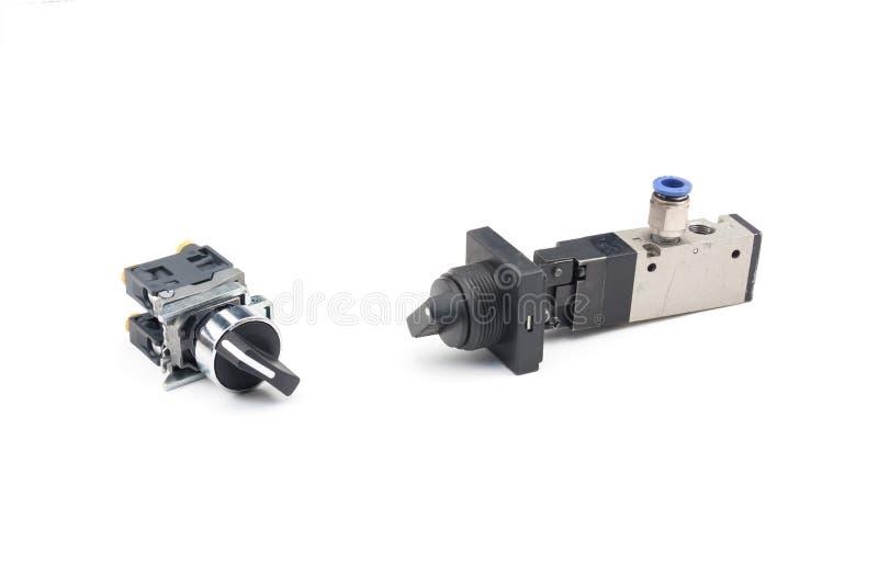 Pneumatic valve stock photo