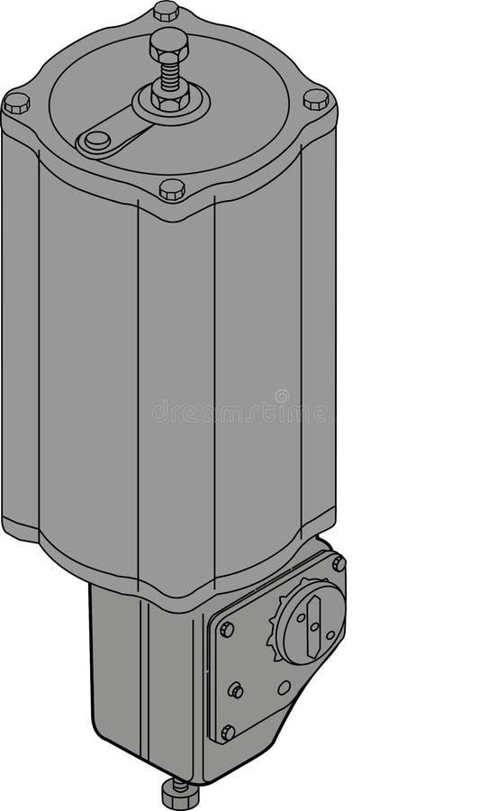 Pneumatikzylinderauslöser, Installation lizenzfreie abbildung