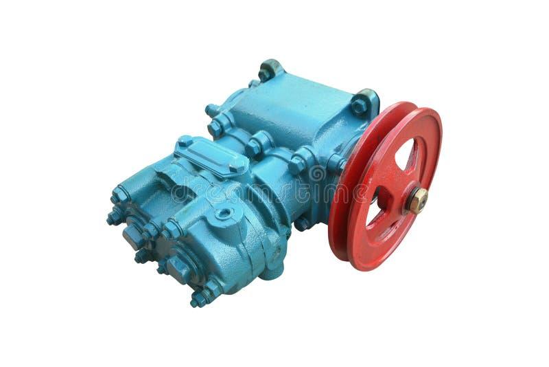 Pneumatische compressor voor de rem stock afbeeldingen