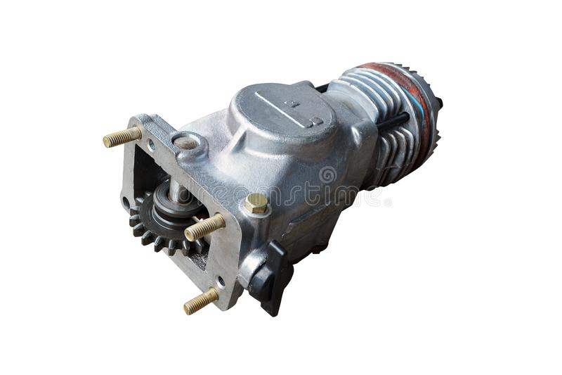 Pneumatische compressor voor de rem royalty-vrije stock foto