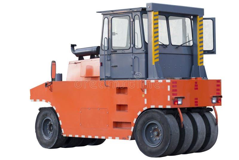 Pneumatyczny rolownik, drogowy rolownik lub compactor, obraz stock