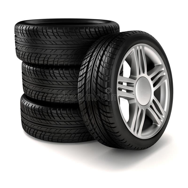 pneus 3d ilustração do vetor