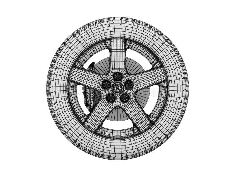 Download Pneus de esqueleto ilustração stock. Ilustração de centro - 12809819