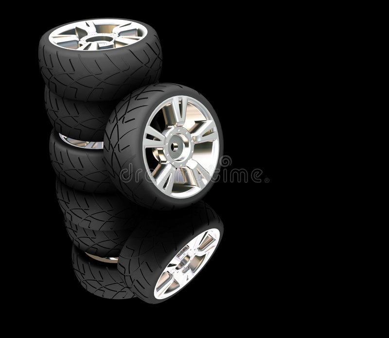 Pneus de véhicule illustration stock