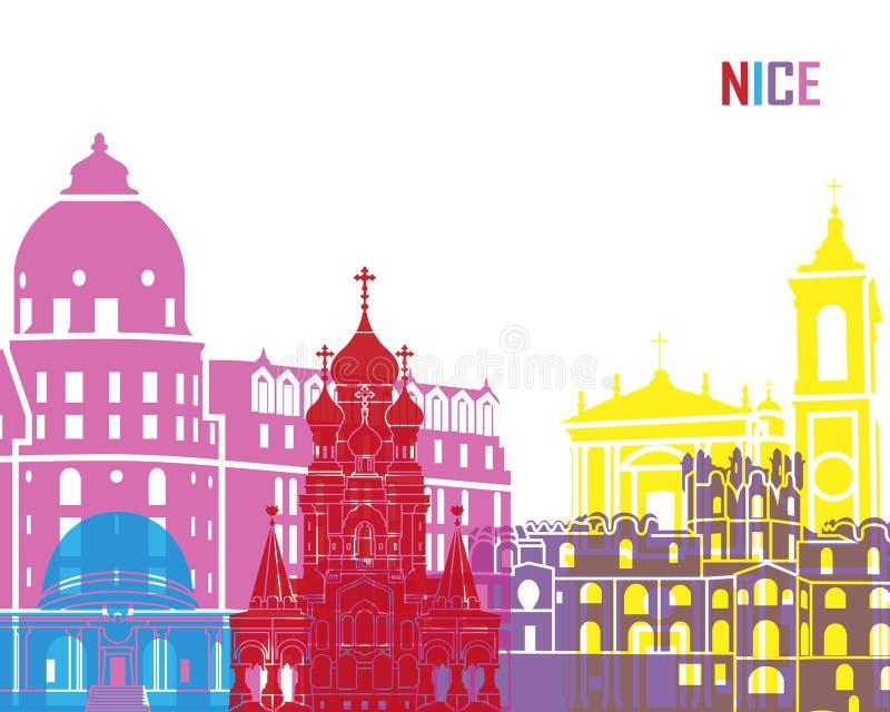 PNF agradável da skyline ilustração stock