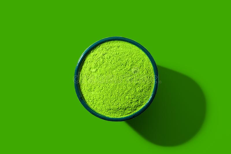PNF Art Style do chá verde de Matcha imagem de stock royalty free