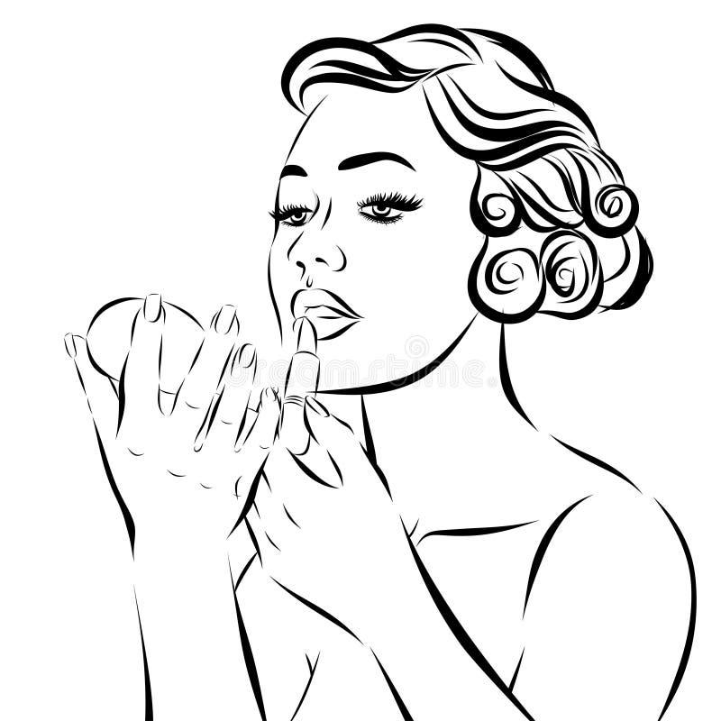 PNF Art Woman - em um fundo branco Vetor ilustração stock