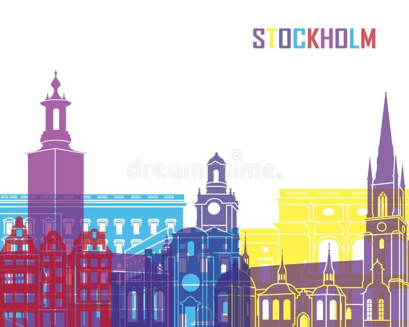PNF da skyline de Éstocolmo ilustração stock