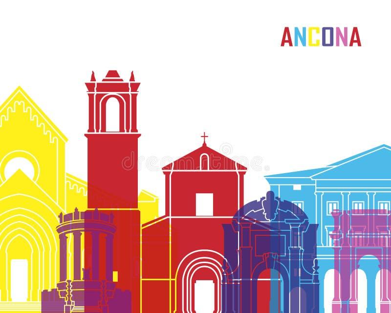 PNF da skyline de Ancona ilustração royalty free