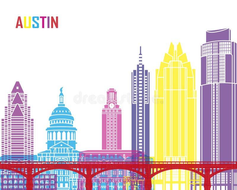 PNF da skyline de Austin ilustração royalty free