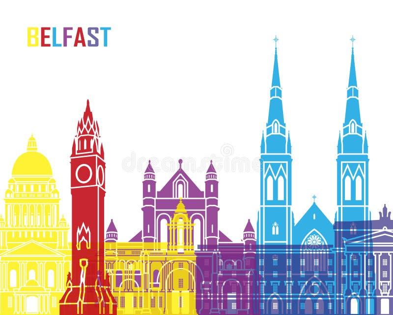 PNF da skyline de Belfast ilustração royalty free