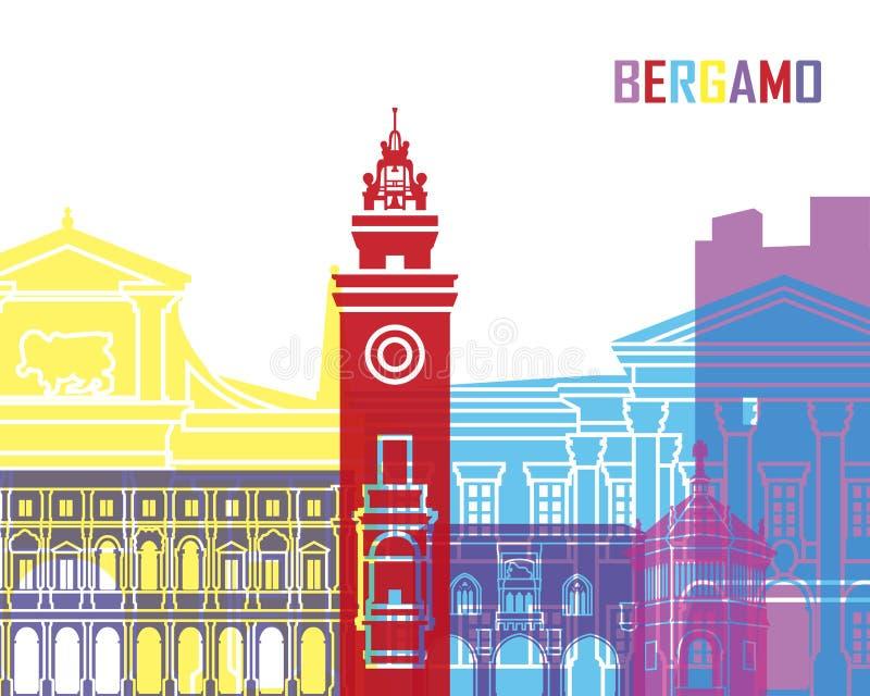 PNF da skyline de Bergamo ilustração stock